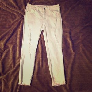 White Seven7 ripped jeans
